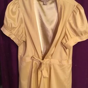 Golden yellow short sleeve blouse